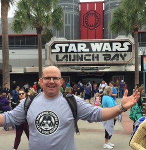 Me at the entrance to the Launch Bay